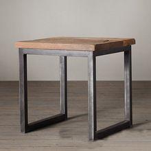 Americano retro sala de estar mesa de café combinação de madeira sólida, Ferro forjado luva dormente personalizada de boas vindas especificações(China (Mainland))