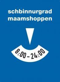 Postkarte: schbinnurgradmaamshoppen