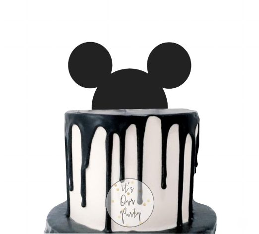 Modern mickey party, mickey mouse party, mickey mouse birthday, black and white party, monochrome kids party, mickey head decorations, mickey cake, mickey cake topper, mouse party, mouse head, mickey mouse decorations