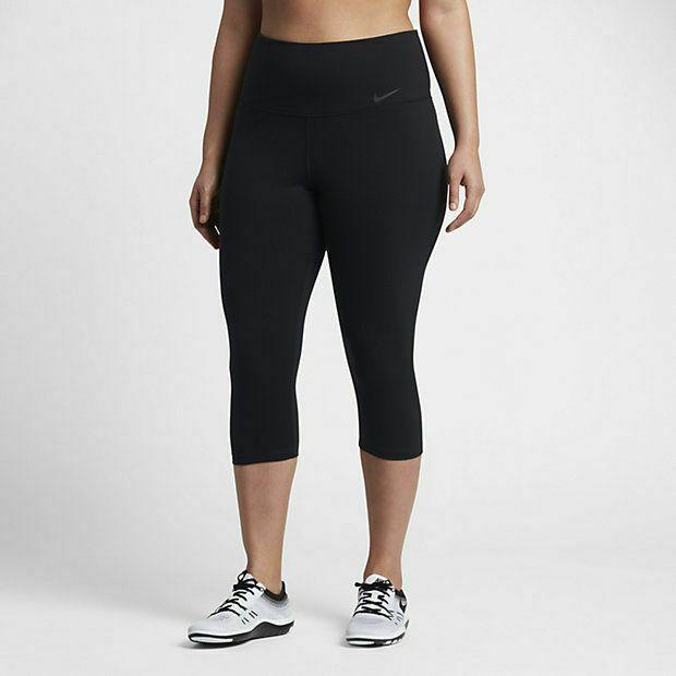 Nike Women S Plus Size Fitness Yoga Capri Pants Black 3xl 874451 010 Nike Compression Capri Yoga Pants Capri Pants Yoga Pants With Pockets