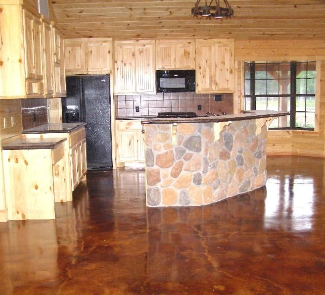 Stained Concrete Houston Kitchens Concrete Floors