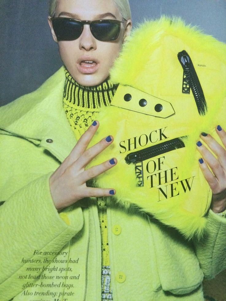 Harpers bazaar graphic ad.