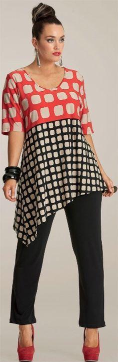 WORK IT ASYMMETRICAL TUNIC - Tops - My Size, Plus Sized Women's Fashion & Clothing
