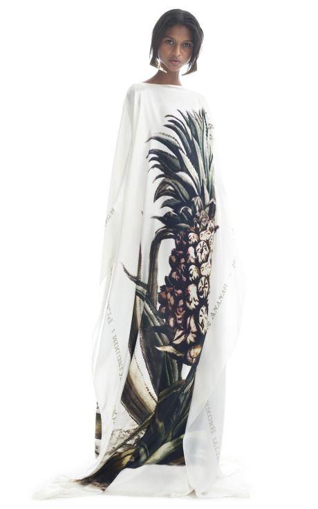 Pineapple Kaftan by Adriana Degreas for Preorder on Moda Operandi