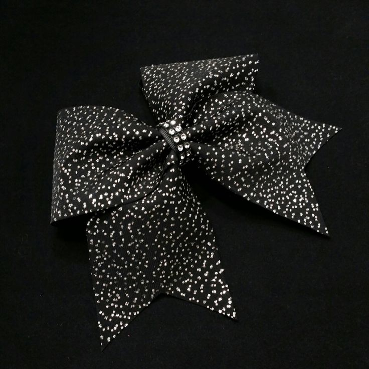 Cheer bow, black cheer bow, glitter cheer bow, cheerleading bow, cheerleader bow, practice cheer bow, rec cheer bow, pop warner cheer bow by MadeForMeCheerBows on Etsy https://www.etsy.com/listing/287897177/cheer-bow-black-cheer-bow-glitter-cheer