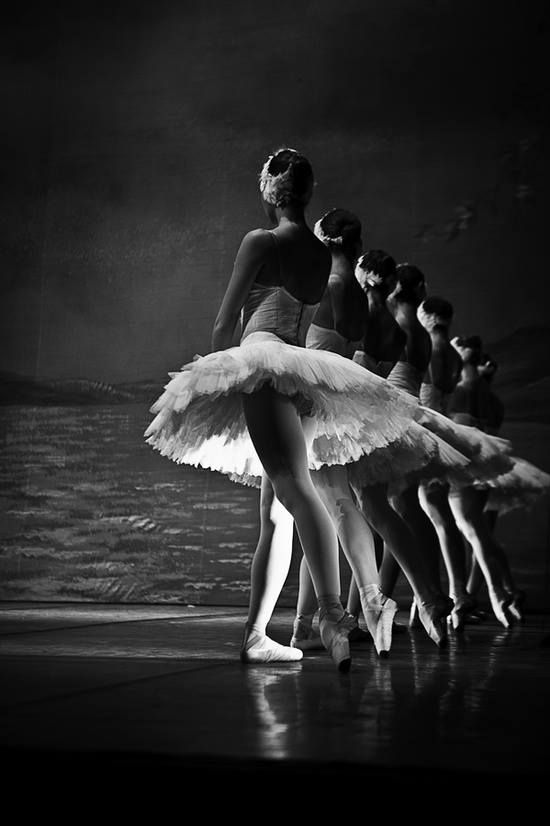 Black and white of ballet