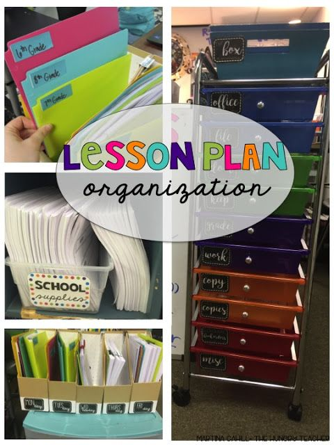 Lesson Plan Organization | The Hungry Teacher