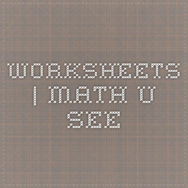 math worksheet : worksheets  math u see  grade 1 math  pinterest  worksheets e  : Math U See Worksheet