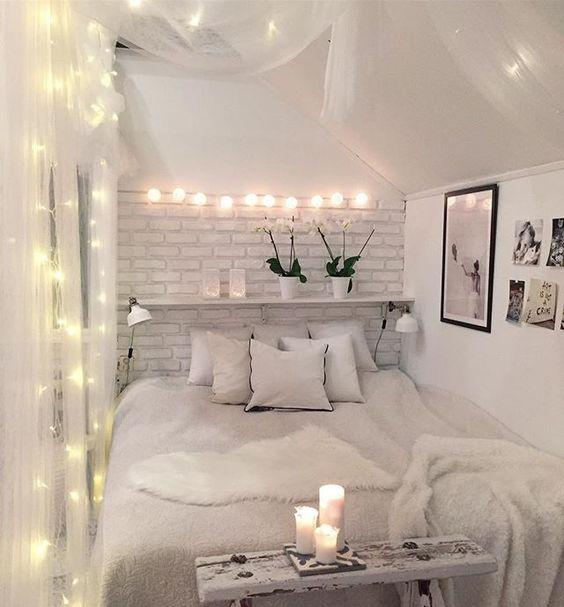 die 25+ besten ideen zu schlafzimmer lichterkette auf pinterest, Deko ideen