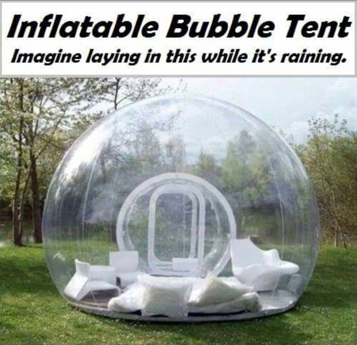 Wouldn't this be fun!  Why not put an inflatable tub inside it?