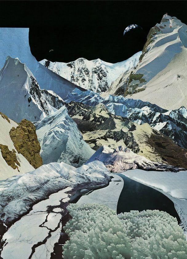 Collaged landscape...