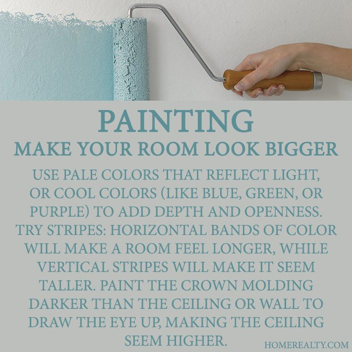 Paint tricks to make room bigger images - Make a small space look bigger ideas ...