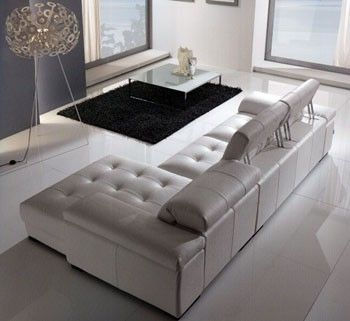 Max Divani Spielberg Sectional  Spielberg sectional available in a variety of leather grades, soft covers and colors. Completely customizable, it can be configured to any size.  #modern #contemporary #furniture #italian