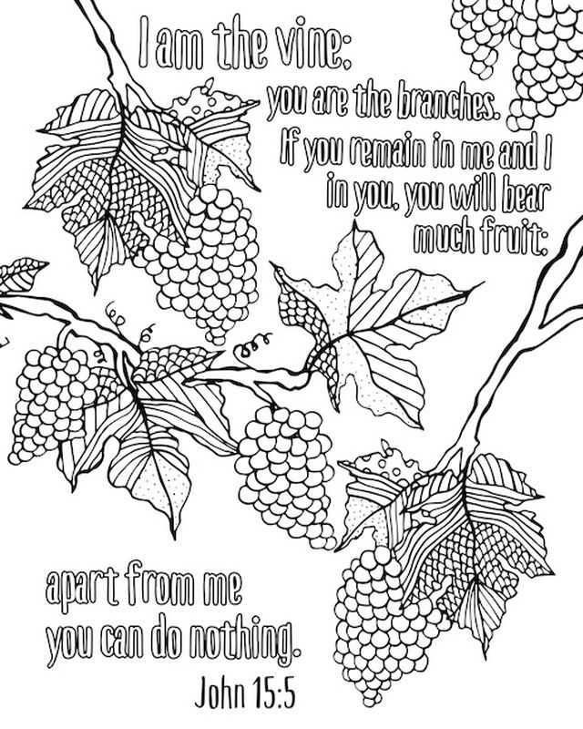 I Am The Vine You Are The Branches Coloring Canvas Canvas On