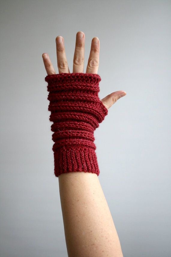 Crochet pattern, Instant Download crochet arm warmer pattern, wrist warmer crochet pattern, fingerless glove pattern (244)  The days are getting colder so I always use some kind of fingerless gloves, keeps my hands nice and warm and cosy! these lovely pair is made out of the most delicious alpaca yarn, the colour is brilliant!, great dark red with a little sparkle the best combination for the holidays season.  Size: Adults size, S/M with directions on how to make it larger.  Materials and…