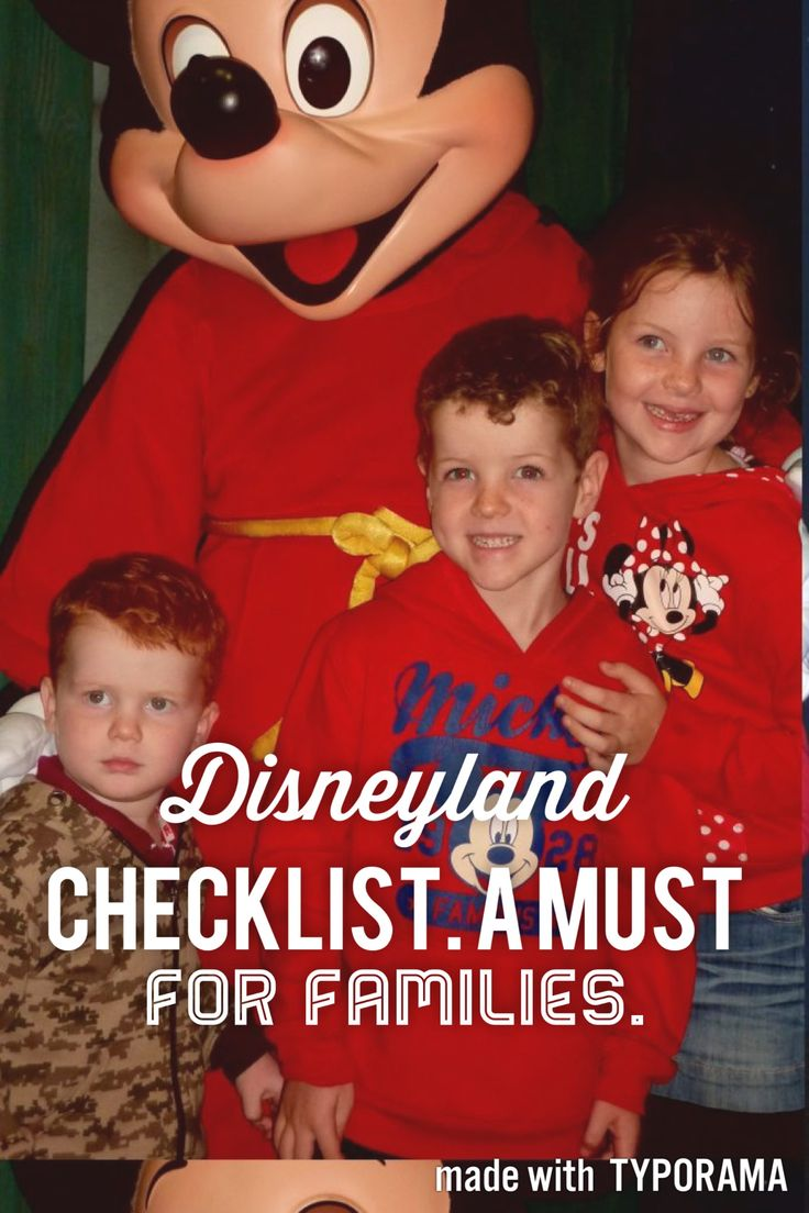 Disneyland Checklist. A must read before heading to Disneyland