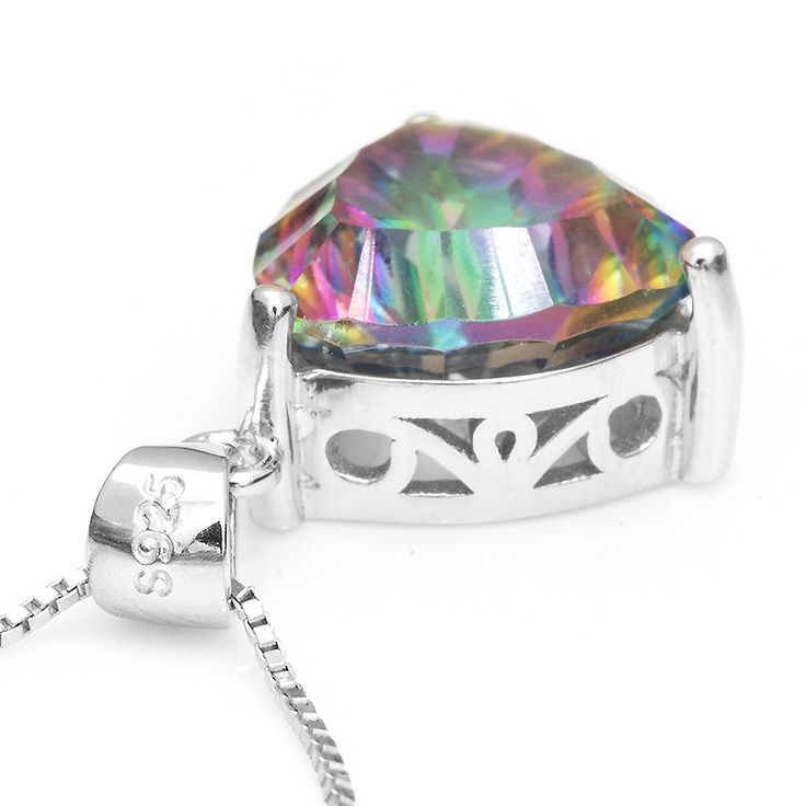4ct Genuine Nature Rainbow Fire Mystic Topaz Pendant Only $25.99 => Save up to 60% and Free Shipping => Order Now! #Bracelets #Mystic Topaz #Earrings #Clip Earrings #Emerald #Necklaces #Rings #Stud Earrings