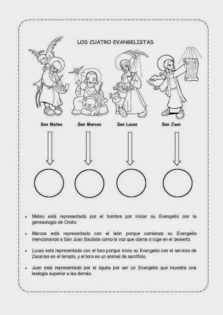 Resultado de imagen de simbolos de los 4 evangelistas y su significado para niños