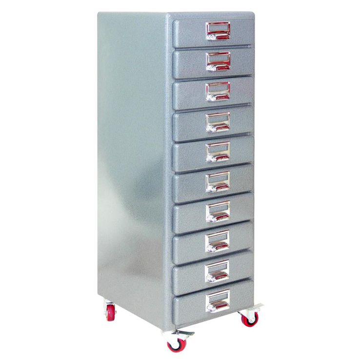 STORAGE & DISPLAY Dulton 10 Drawer File Tall Chest - Hammertone
