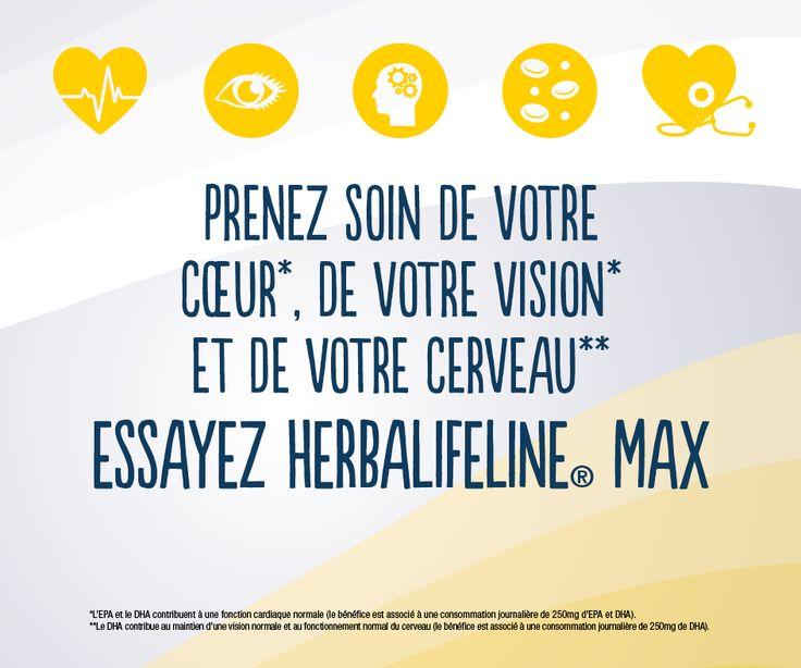 Prenez soin de votre cœur ❤️ de votre vision 😎et de votre cerveau 💆avec les huiles essentielles Omega 3 Herbalifeline  http://www.shophbl.com/fr/vitalite/87-produit-herbalife-vitalite-complement-alimentaire-herbalifeline-max-herbalife.html