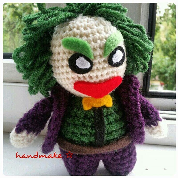 Joker! #handmake #handmade #toy #amigurumi #crochet #joker #dc #dccomics #dcuniverse #etsy #etsyfind #ручнаяработа #джокер #амигуруми #игрушка #вязаниекрючком #диси #комиксы #фанат
