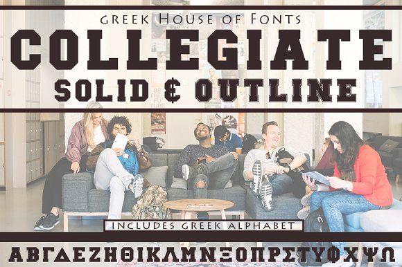 Collegiate Greek Font Set  @creativework247