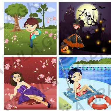 woman - vector illustrations