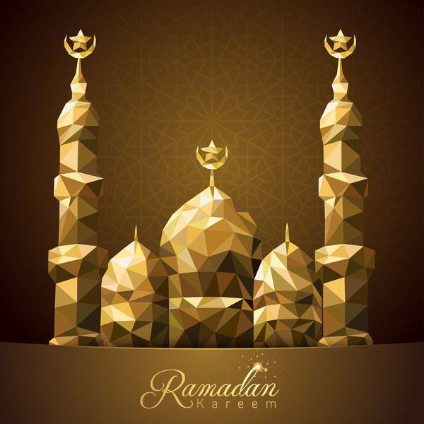 Ramadan Kareem Greeting Card Background Vectors Ramadan Kareem