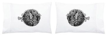 Blowfish Pillowcase Set - transitional - Bed Pillows - Sweet Cream Designs