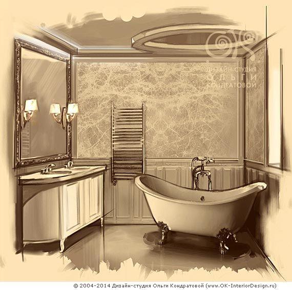 Стилизация под винтаж в интерьере ванной комнаты  http://www.ok-interiordesign.ru/blog/vintage-bathroom-interior.html