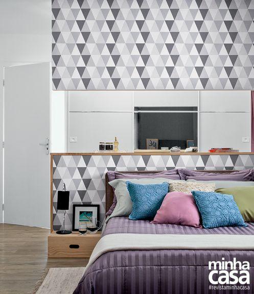 9 quartos de casal apaixonantes  | Projeto do designer de interiores Paulo Castellotti, cor da parede - Cinza Dusky da Lukscolor