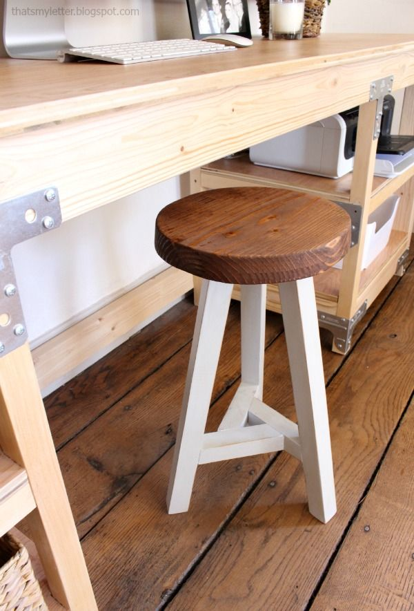 Desk Stool 3 Legged Wood With Legs Diy
