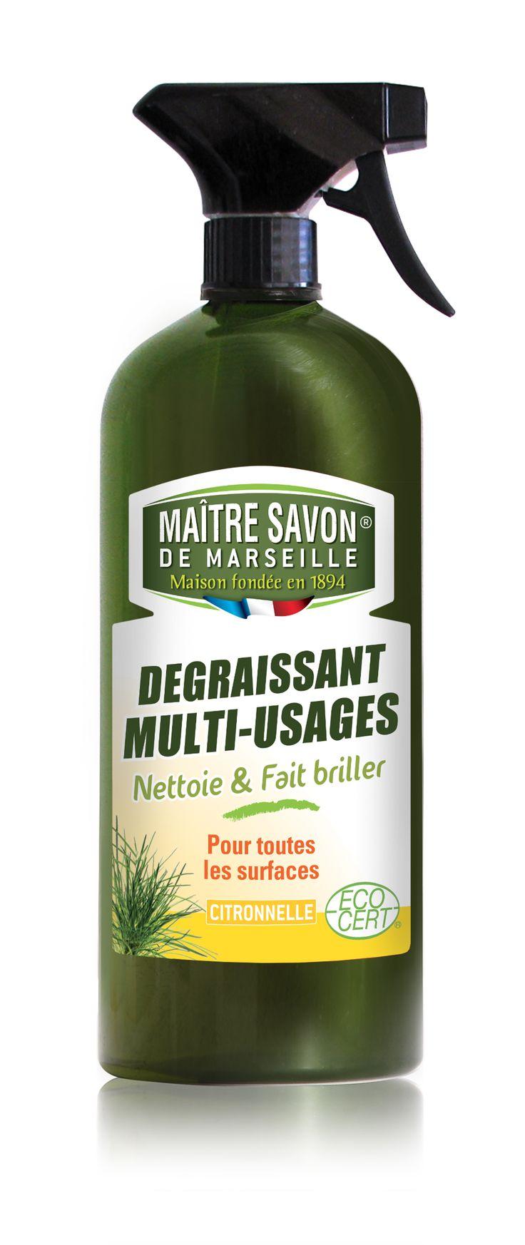 Dégraissant multi-usages Citronnelle 750ml Maître Savon de Marseille