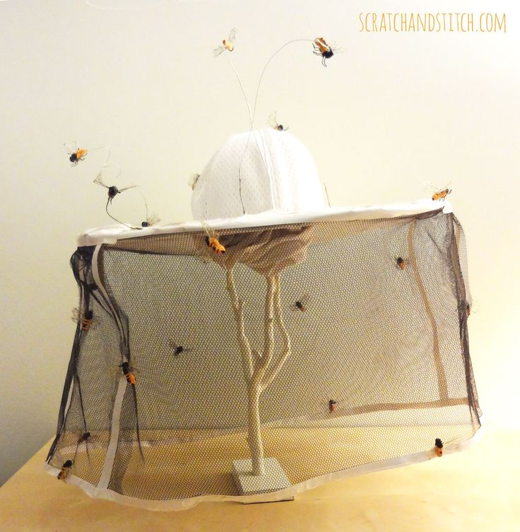 Homemade Beekeeper Hat - scratchandstitch.com