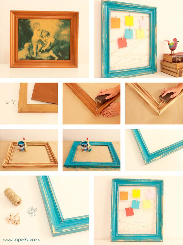 M s de 25 ideas incre bles sobre colgar fotos en pinterest - Como hacer un cuadro con fotos familiares ...