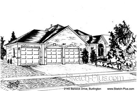 Architectural Sketch: 2145 Berwick Drive, Burlington