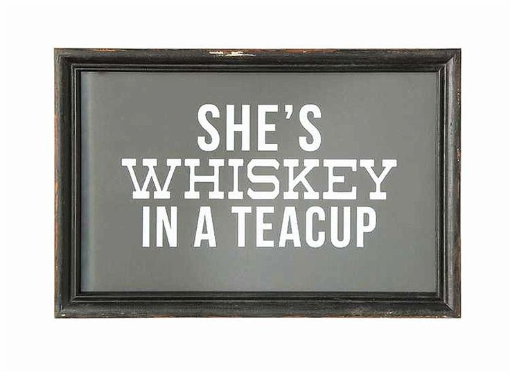 SHE'S WHISKEY In a Teacup framed art - Junk GYpSy co.