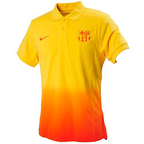 FCバルセロナ 12/13 Auth. GS ポロシャツ(イエロー×オレンジ)