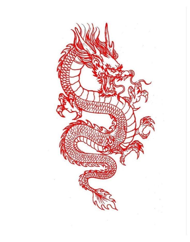 Dragon Tattoo Stencil, Dragon Tattoo Back, Small Dragon Tattoos, Dragon Tattoo For Women, Japanese Dragon Tattoos, Dragon Tattoo Designs, Tattoo Stencils, Small Tattoos, Chinese Dragon Drawing