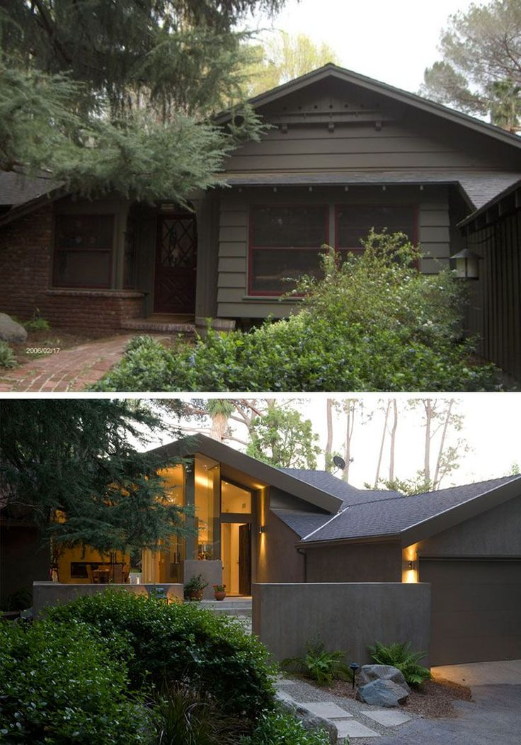 House Renovation Ideas - 17 Inspirational Before & After Residential Projects | Modern details were included in this contemporary remodel and addition to a 1980's house in the La Cañada area of Los Angeles, California.