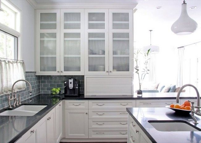 White Glass Kitchen Cabinets  With White Glass Kitchen Cabinets , Download This Picture For Free In The