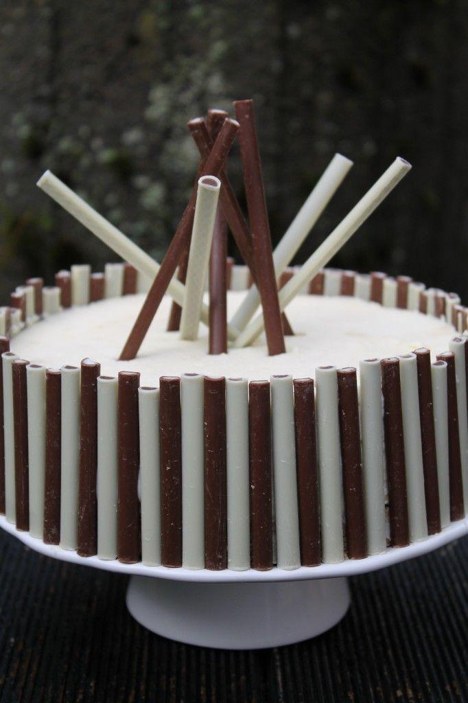 Weiße Schokoladen-Toblerone-Torte
