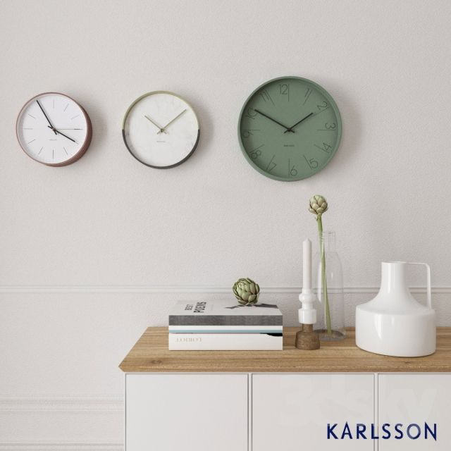 Decorative set with clock Karlsson
