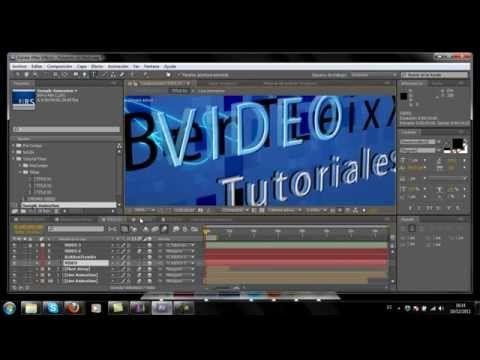 Editar un vídeo con Adobe After Effects - YouTube