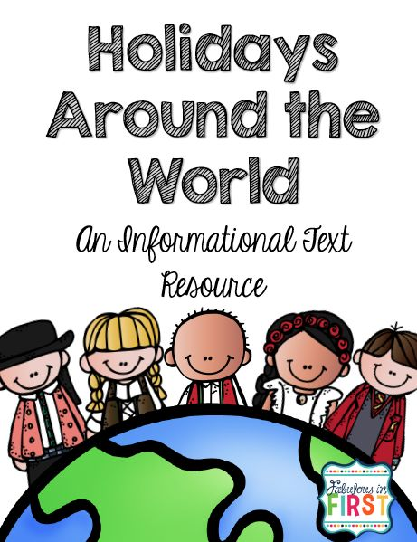 Free Informational Writing packet for Holidays Around the World.