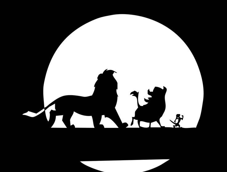 Lion King Silhouette Stencil