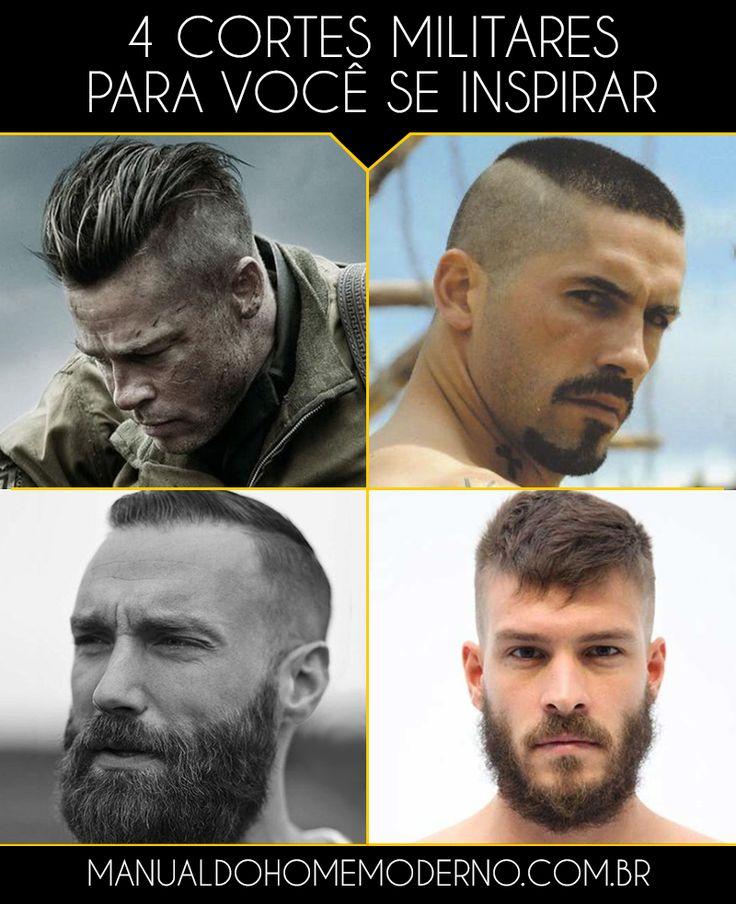 Quatro cortes de cabelo militares para você se inspirar.