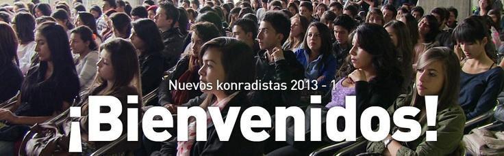 Bienvenida y resumen de servicios para los nuevos estudiantes konradistas