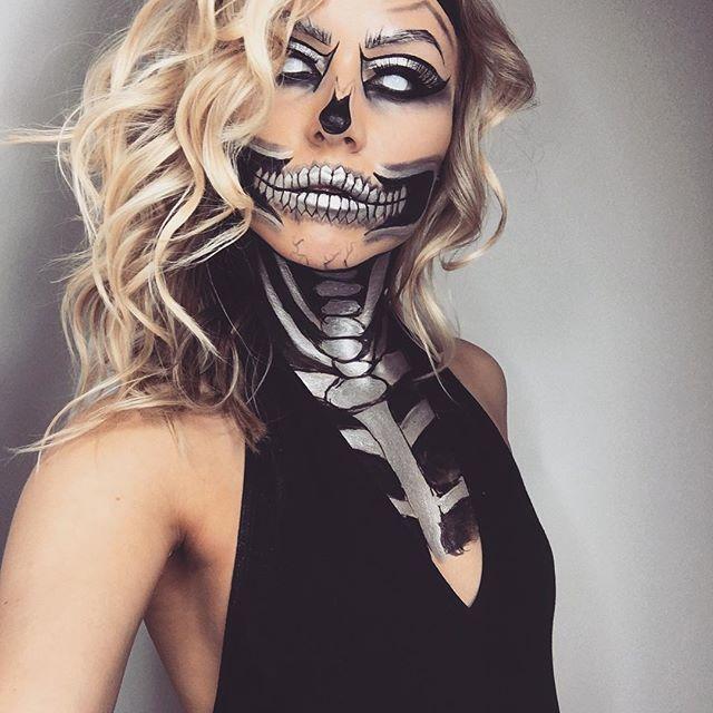 Best 25+ Halloween skeleton makeup ideas on Pinterest   Skeleton ...