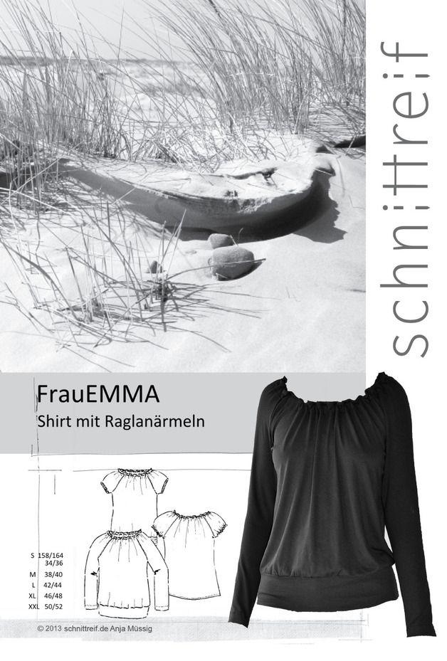 Oberteile & Jacken - Schnittmuster, Raglanshirt + Raglanbluse FrauEMMA - ein Designerstück von schnittreif bei DaWanda